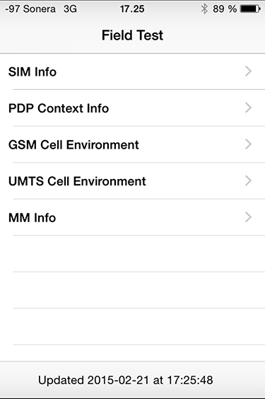 iPhone (cell) Field Test mode - Hacker's ramblings