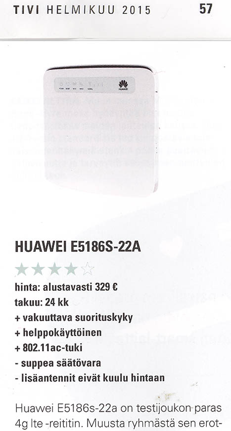 Huawei E5186 (prototype) reviewed - Hacker's ramblings