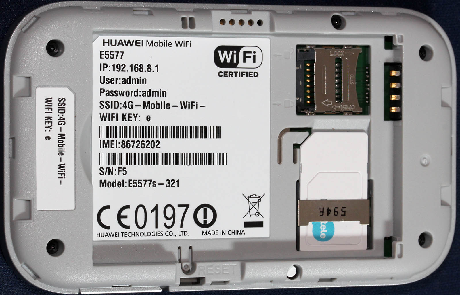 Huawei E5577 quick test - Hacker's ramblings