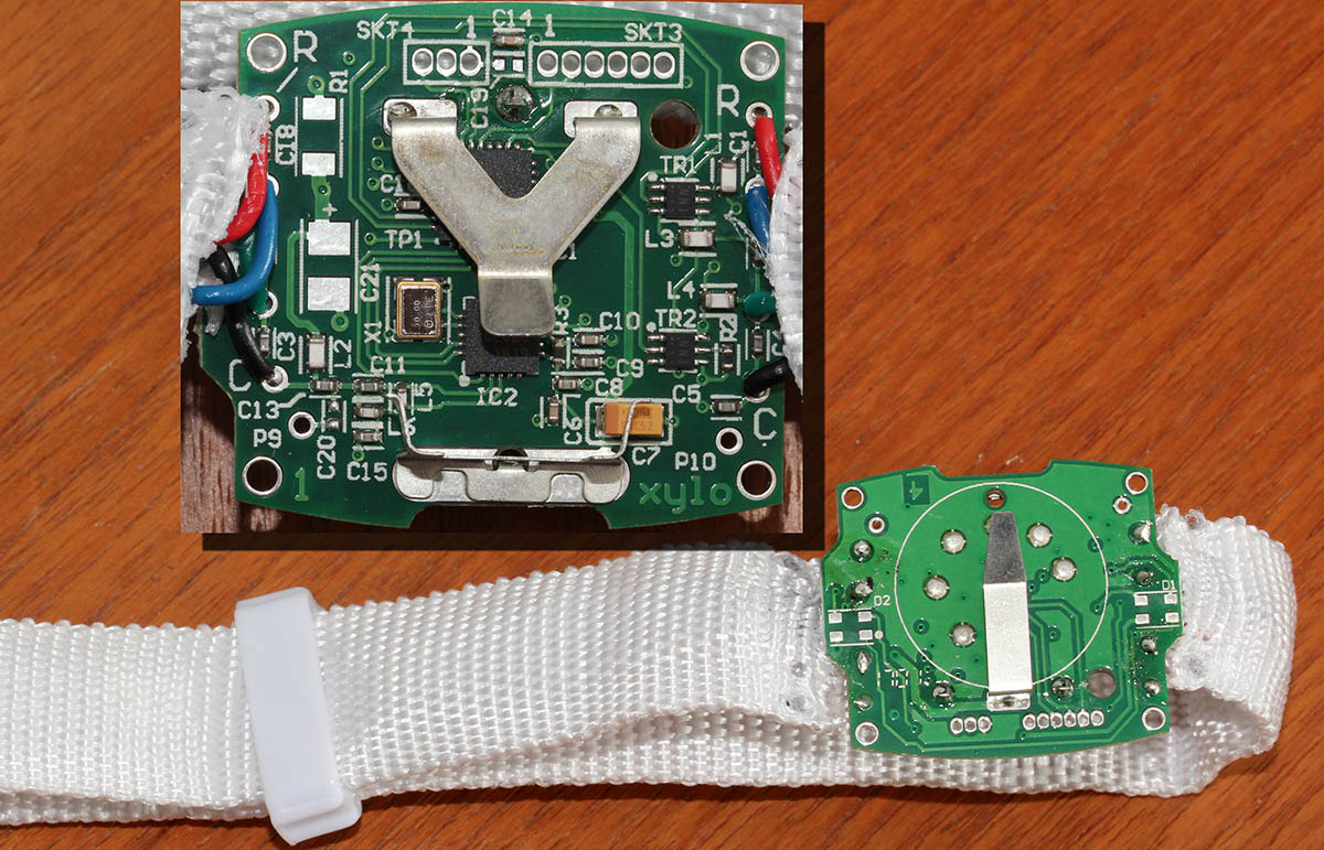Plastic cover removed the board of a