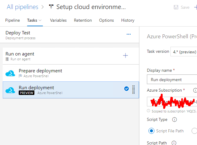 Setting up Azure AD Application from Azure DevOps pipeline