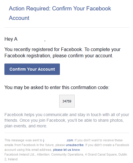 Facebook security flaw - New accounts created on my email